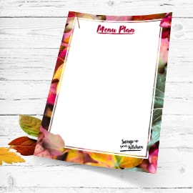 Autumn menu cards