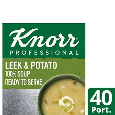 Knorr Professional 100% Soup Leek & Potato 4x2.5kg -